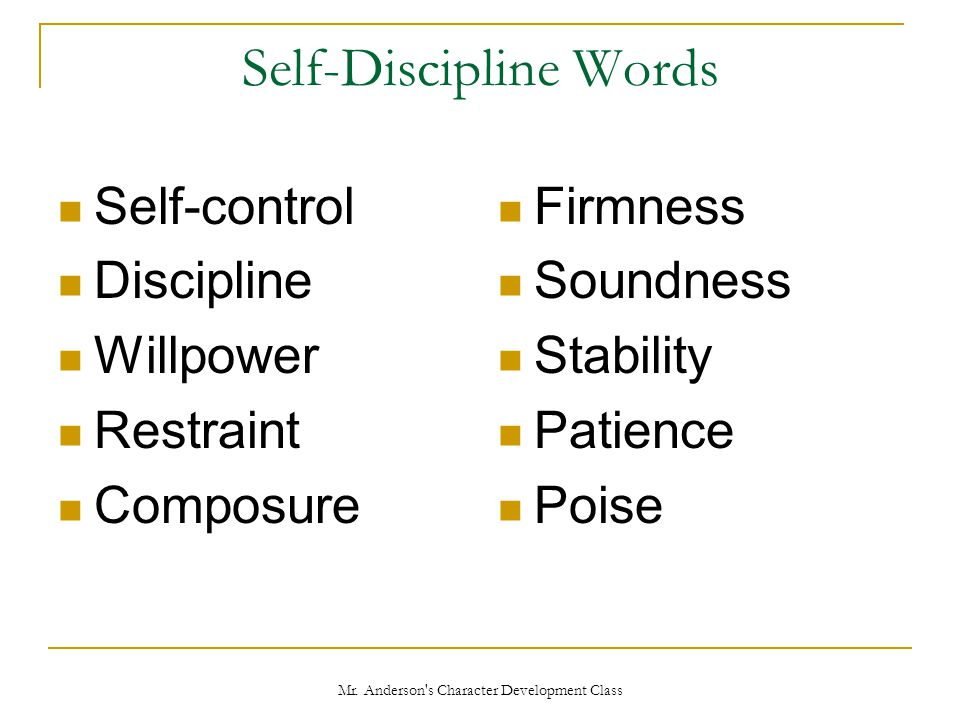 Self-Discipline Words