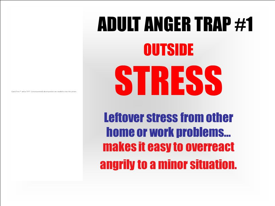 ADULT ANGER TRAP #1 OUTSIDE STRESS