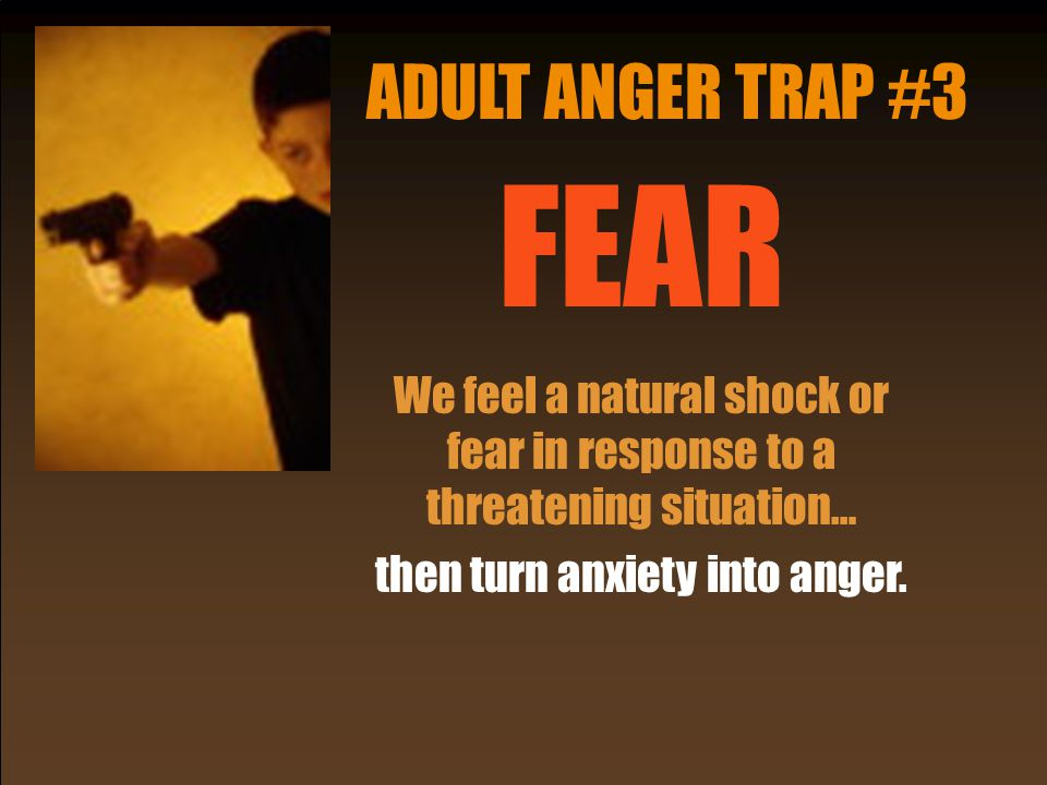 ADULT ANGER TRAP #3 FEAR.