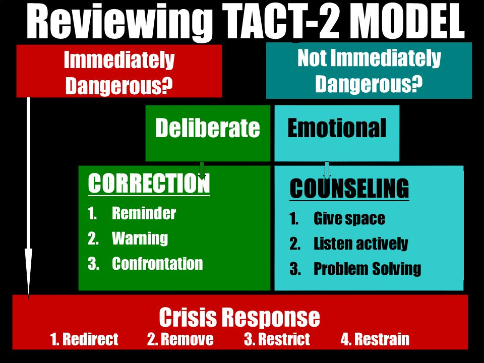 Reviewing TACT-2 MODEL TACT-2 MODEL Deliberate Emotional CORRECTION