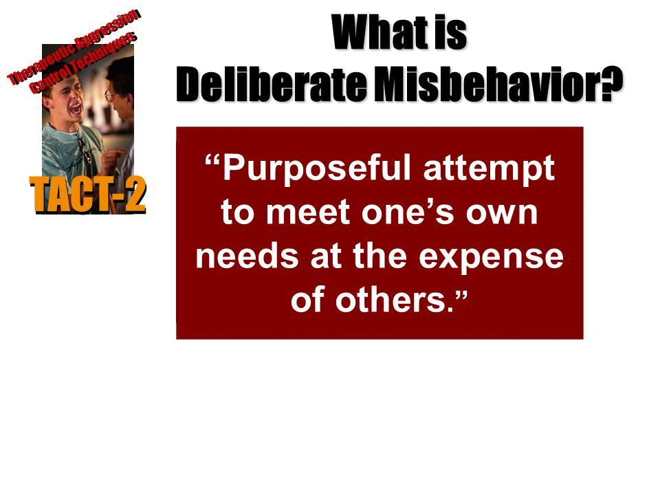 What is Deliberate Misbehavior