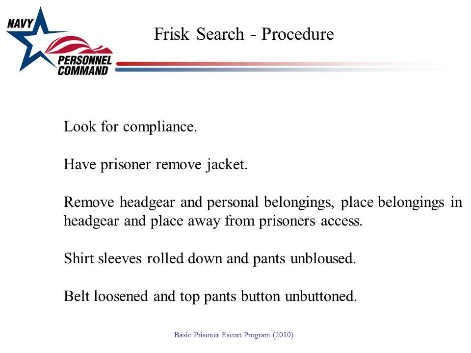 Frisk Search - Procedure