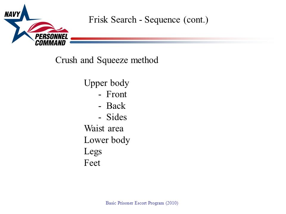 Frisk Search - Sequence (cont.)
