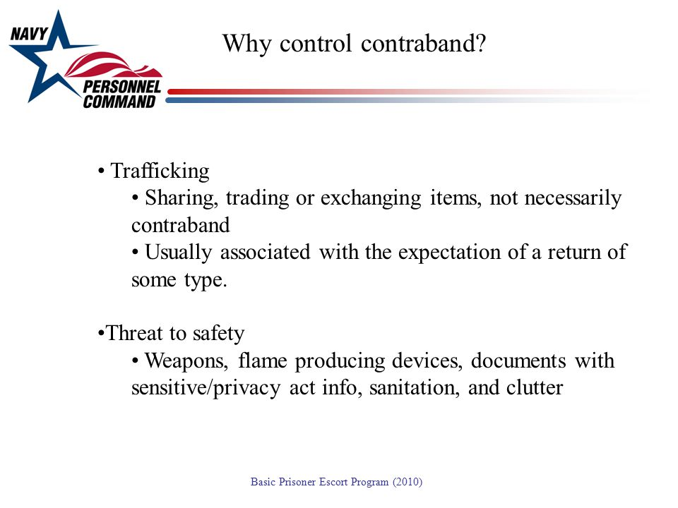 Why control contraband