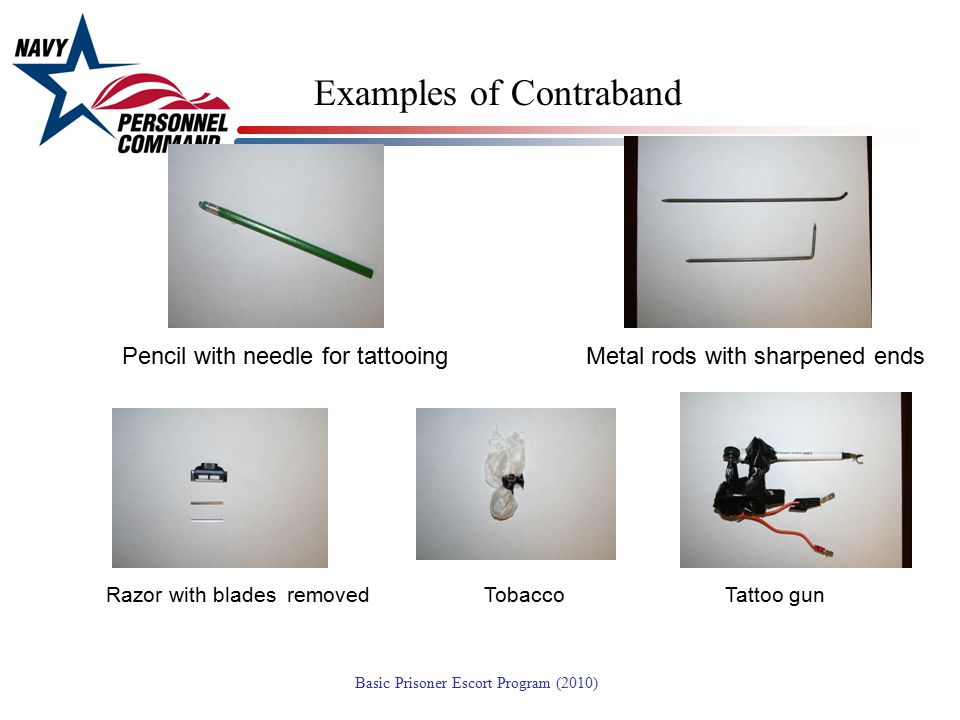 Examples of Contraband