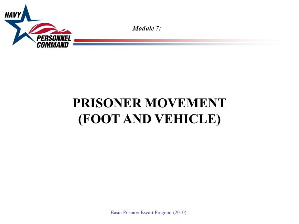PRISONER MOVEMENT (FOOT AND VEHICLE)
