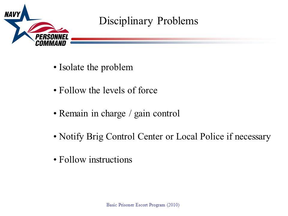 Disciplinary Problems
