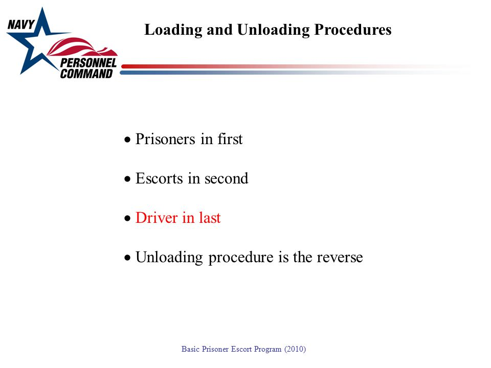 Loading and Unloading Procedures