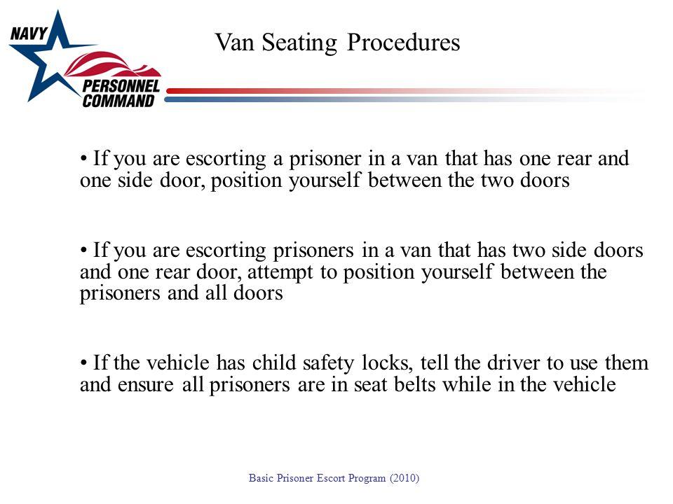 Van Seating Procedures