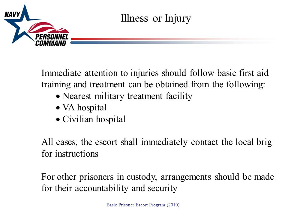 Emergencies Illness or Injury