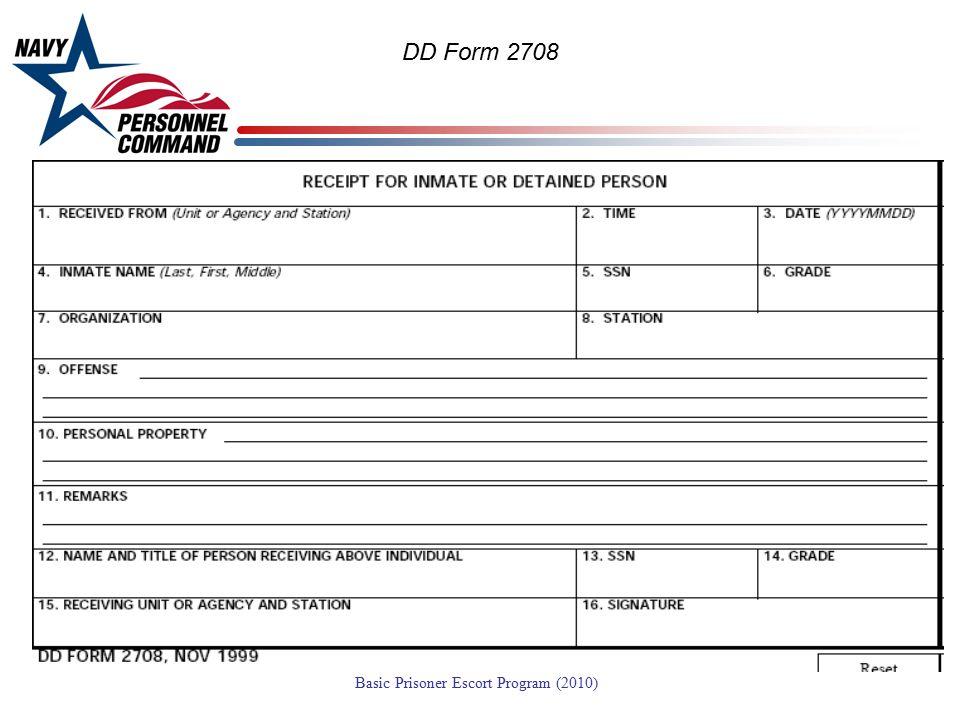 DD Form 2708