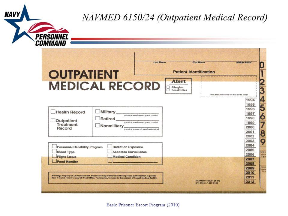 NAVMED 6150/24 (Outpatient Medical Record)