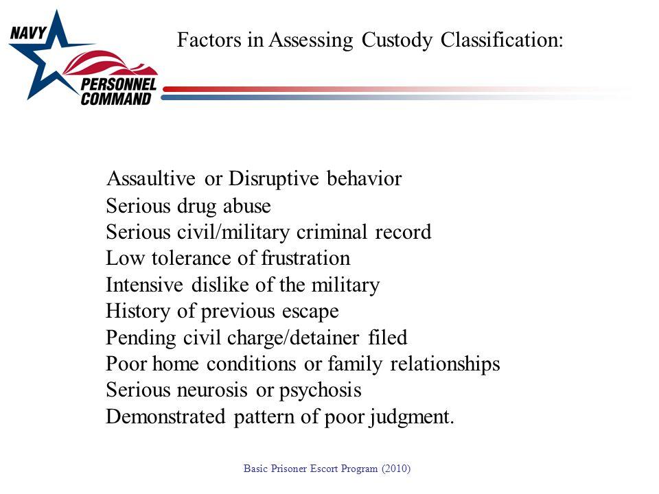 Assaultive or Disruptive behavior