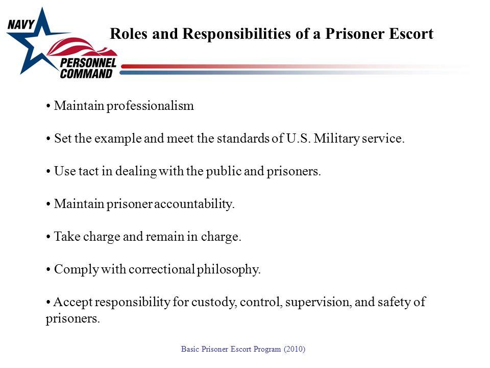 Roles and Responsibilities of a Prisoner Escort