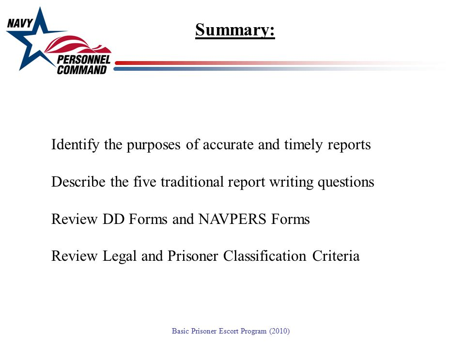 Summary: Identify the purposes of accurate and timely reports