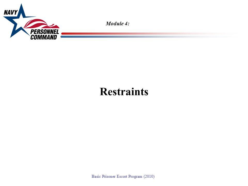 Module 4: Restraints