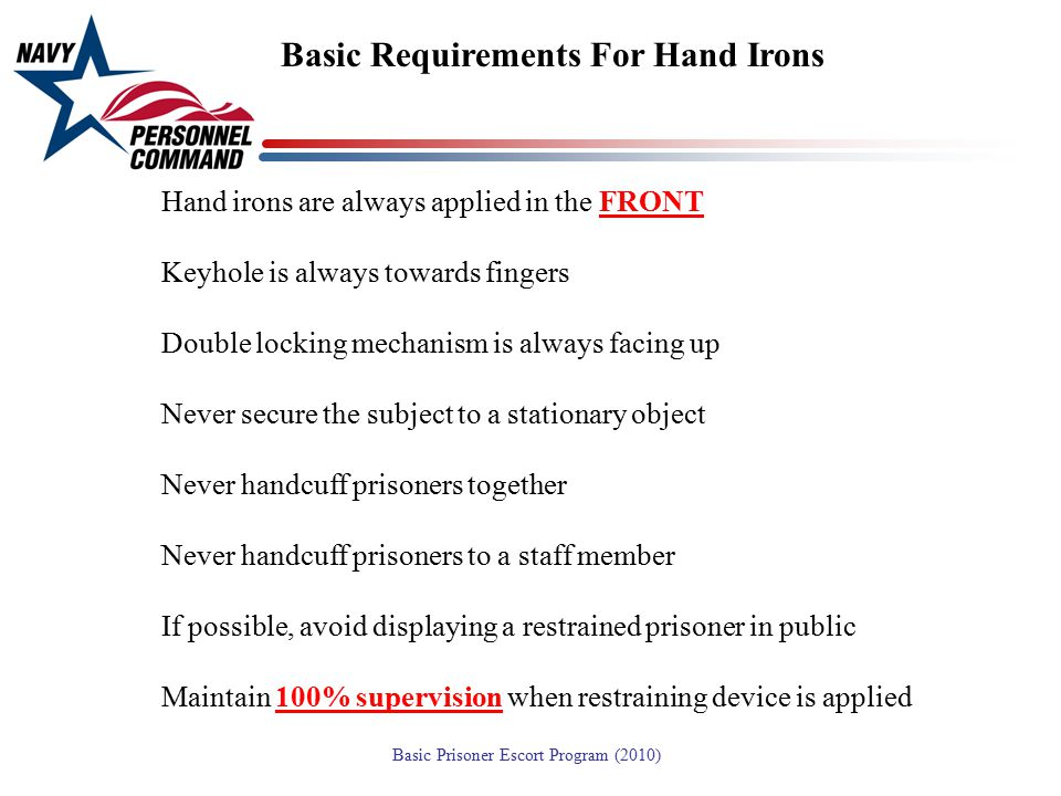 Basic Requirements For Hand Irons