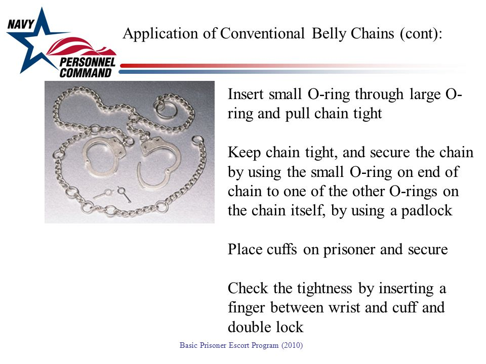 Application of Conventional Belly Chains (cont):