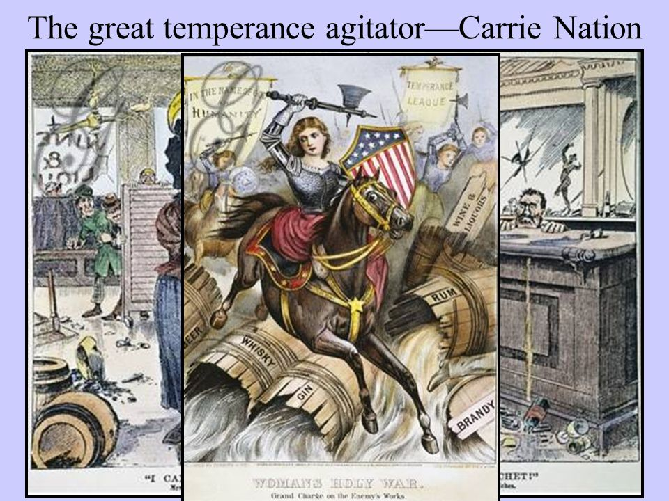 The great temperance agitator—Carrie Nation