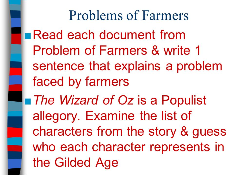 Problems of Farmers Read each document from Problem of Farmers & write 1 sentence that explains a problem faced by farmers.