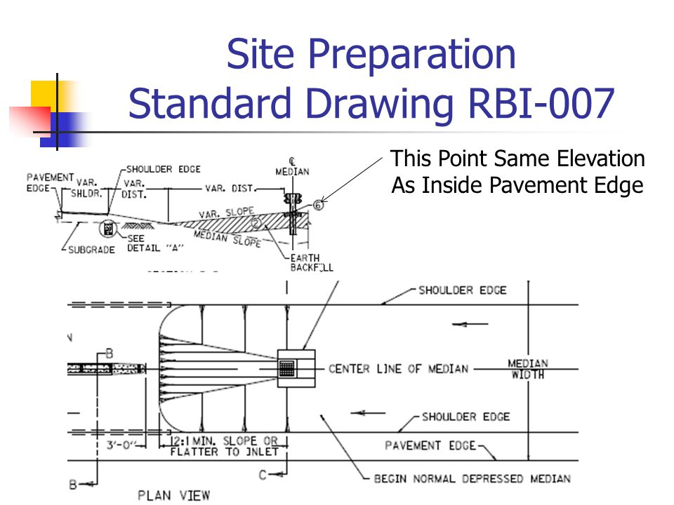 Site Preparation Standard Drawing RBI-007