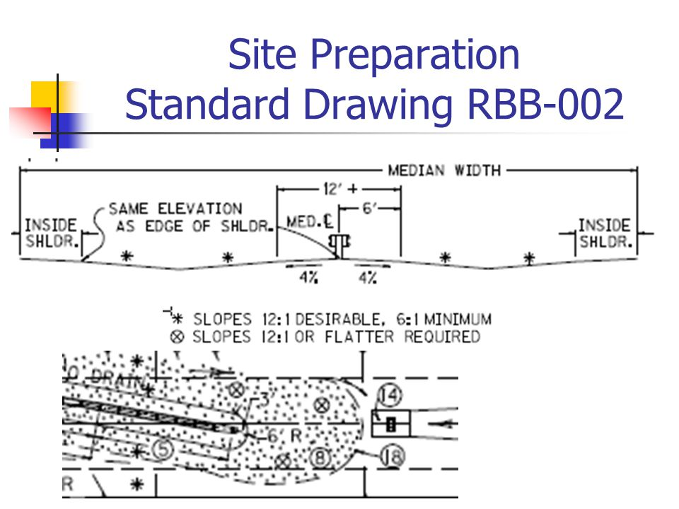 Site Preparation Standard Drawing RBB-002