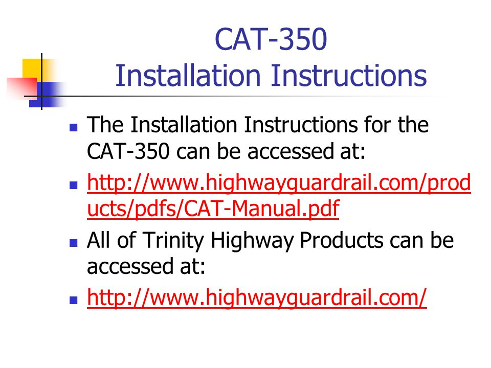CAT-350 Installation Instructions