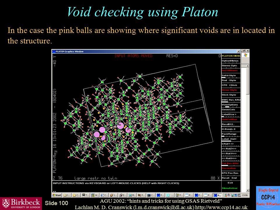 Void checking using Platon