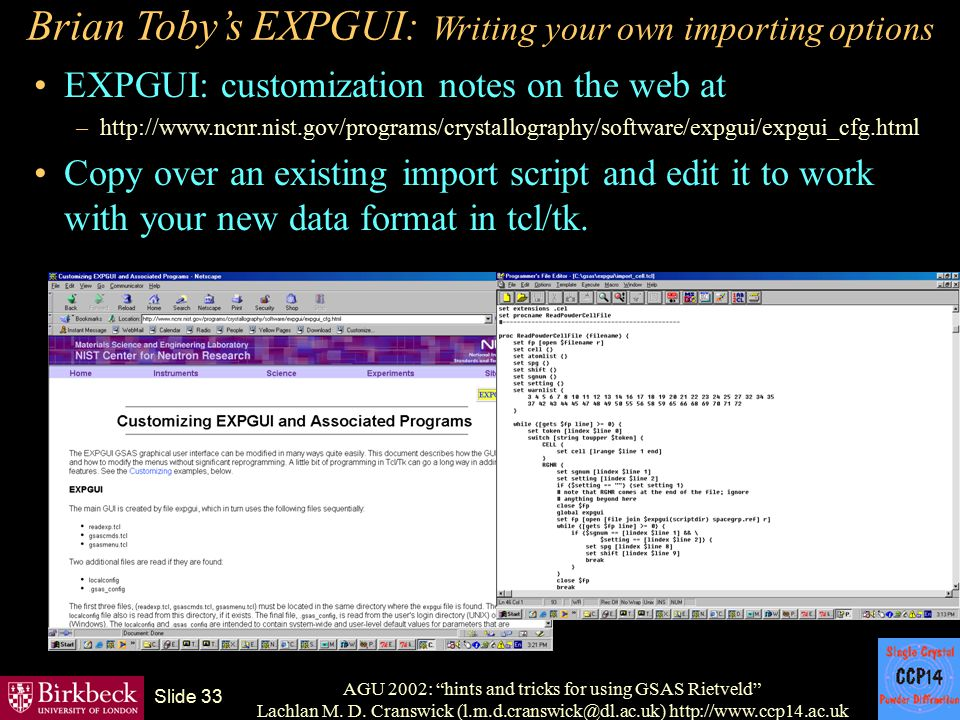Brian Toby's EXPGUI: Writing your own importing options