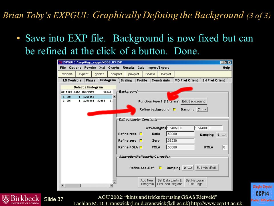 Brian Toby's EXPGUI: Graphically Defining the Background (3 of 3)