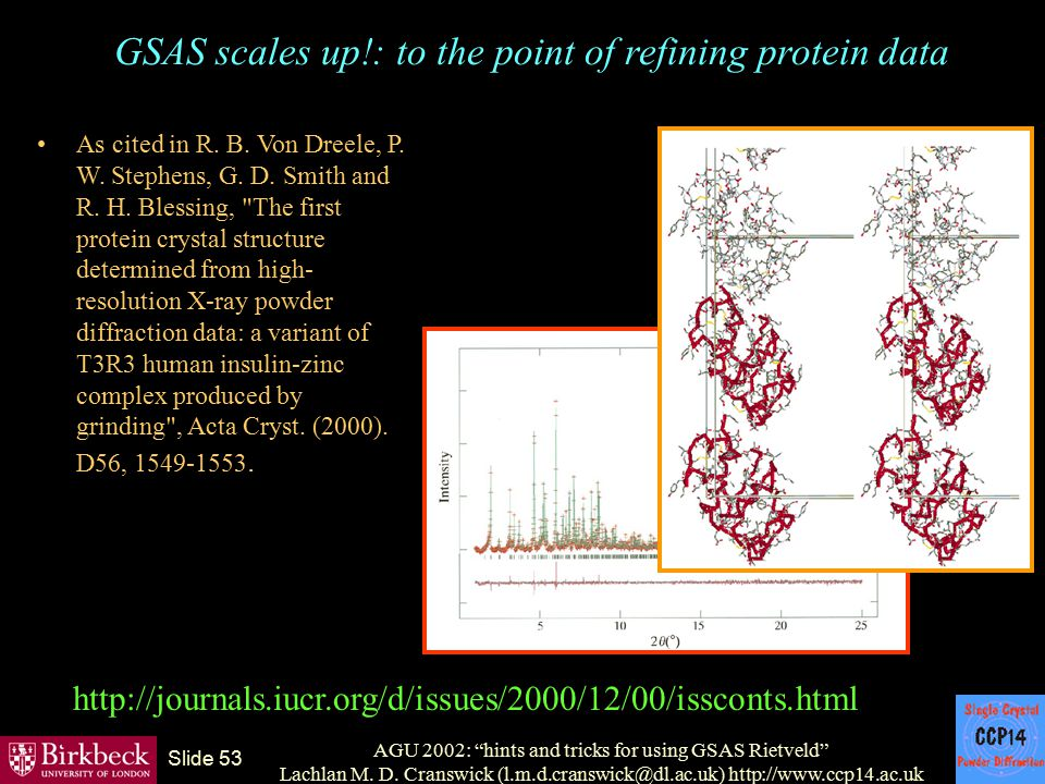 GSAS scales up!: to the point of refining protein data