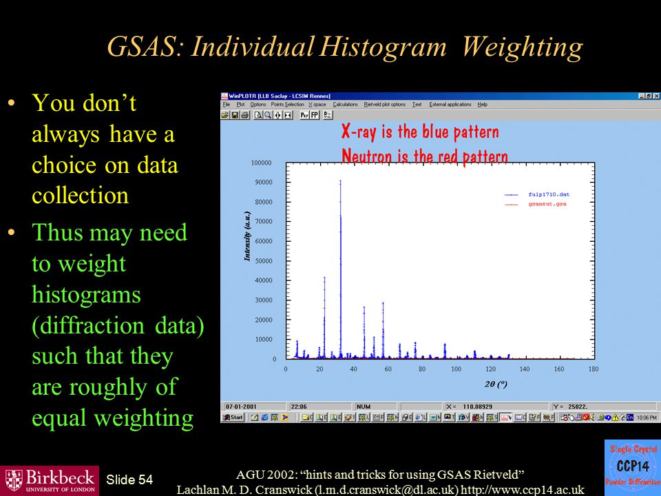 GSAS: Individual Histogram Weighting