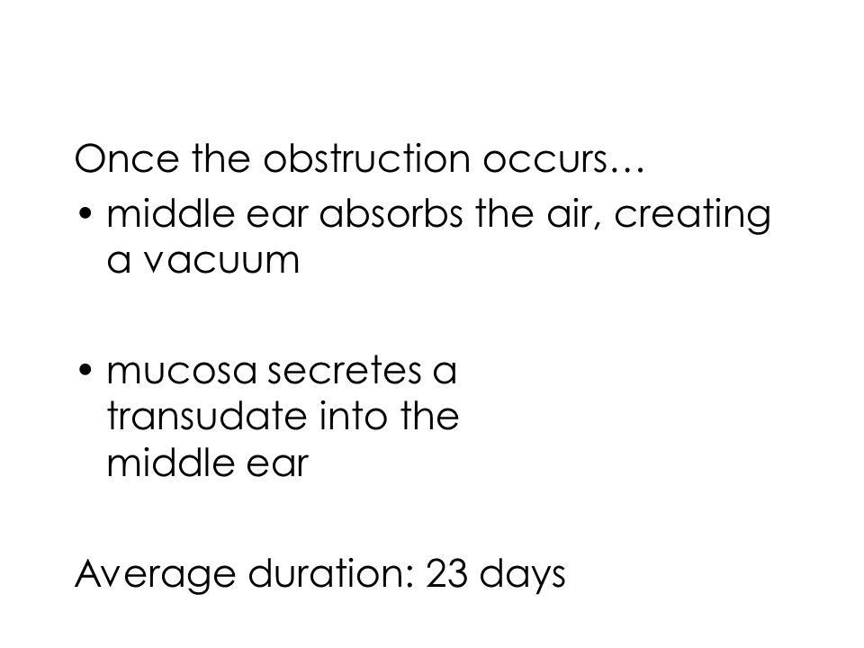 Once the obstruction occurs…