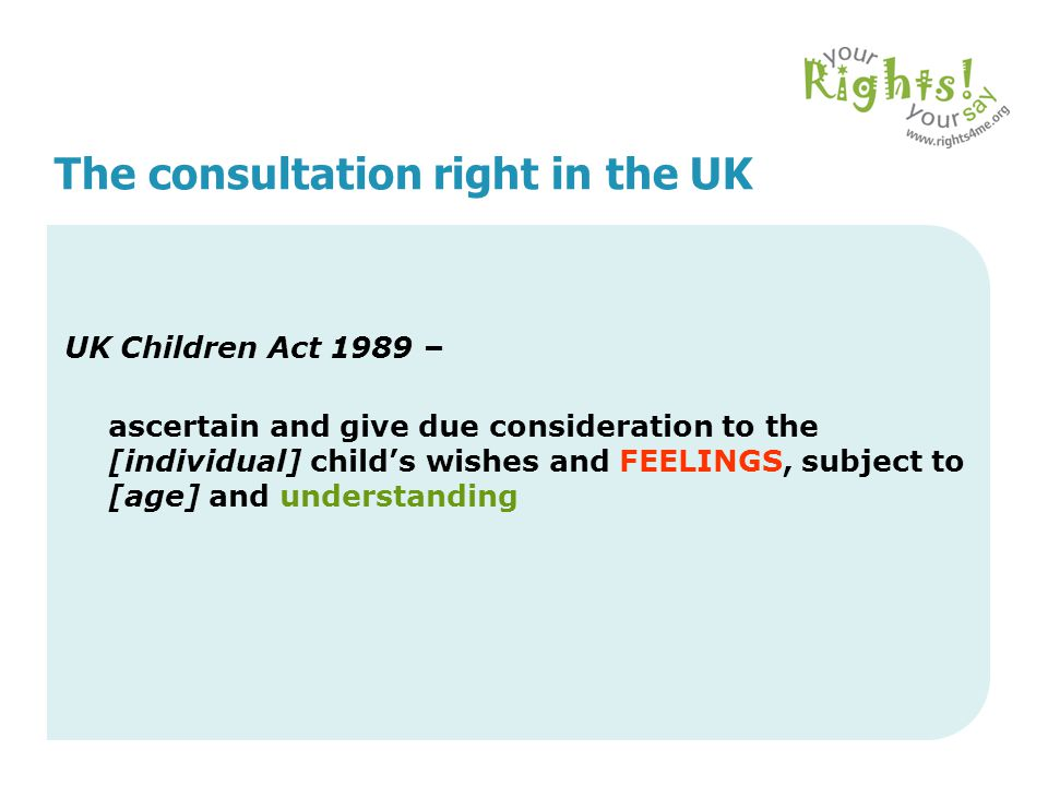 The consultation right in the UK