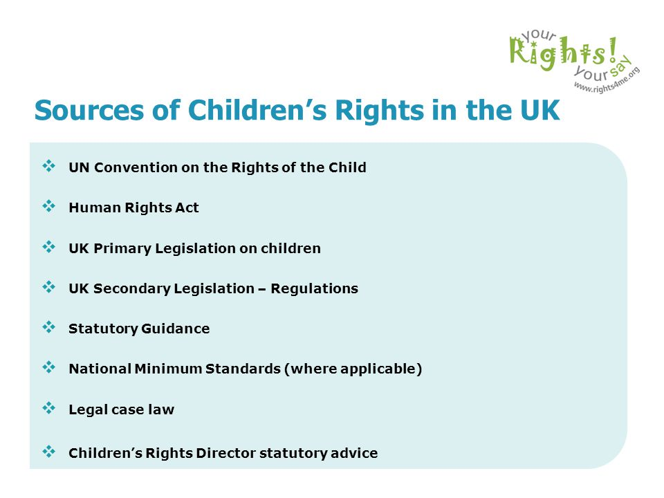 Sources of Children's Rights in the UK