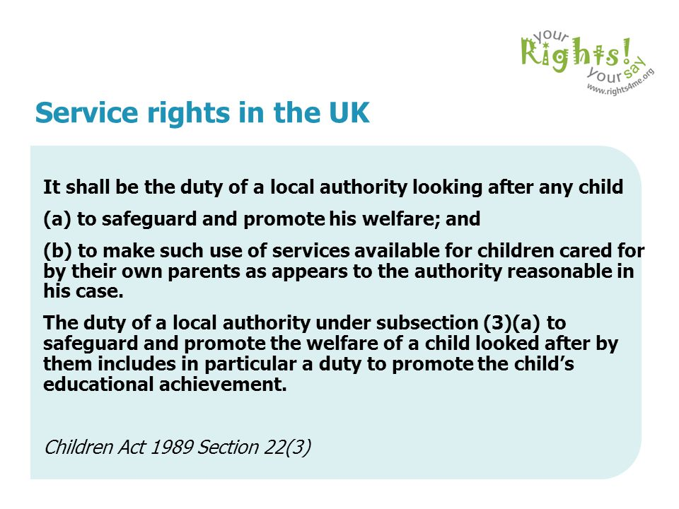 Service rights in the UK