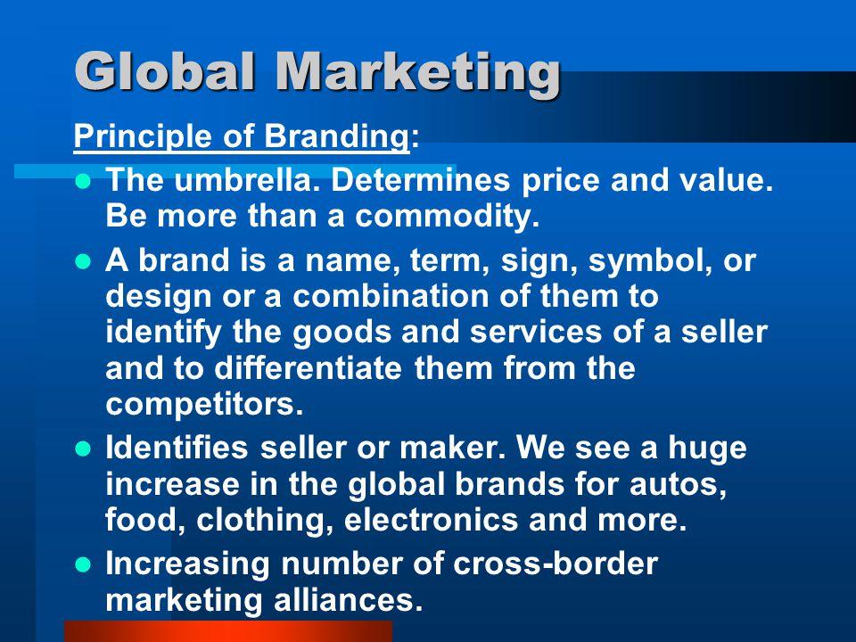 Global Marketing Principle of Branding: