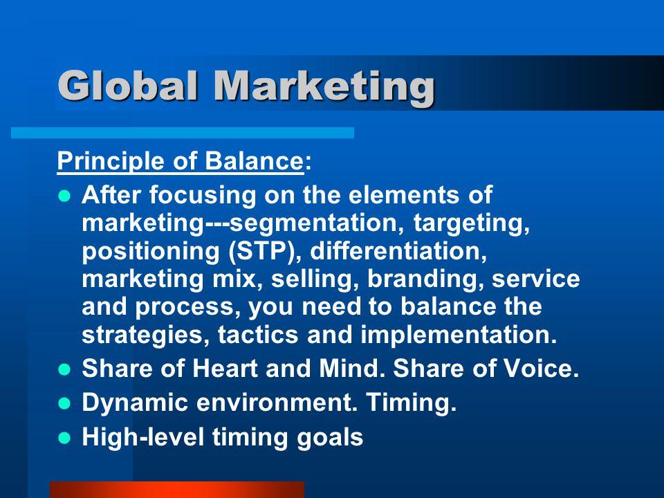 Global Marketing Principle of Balance: