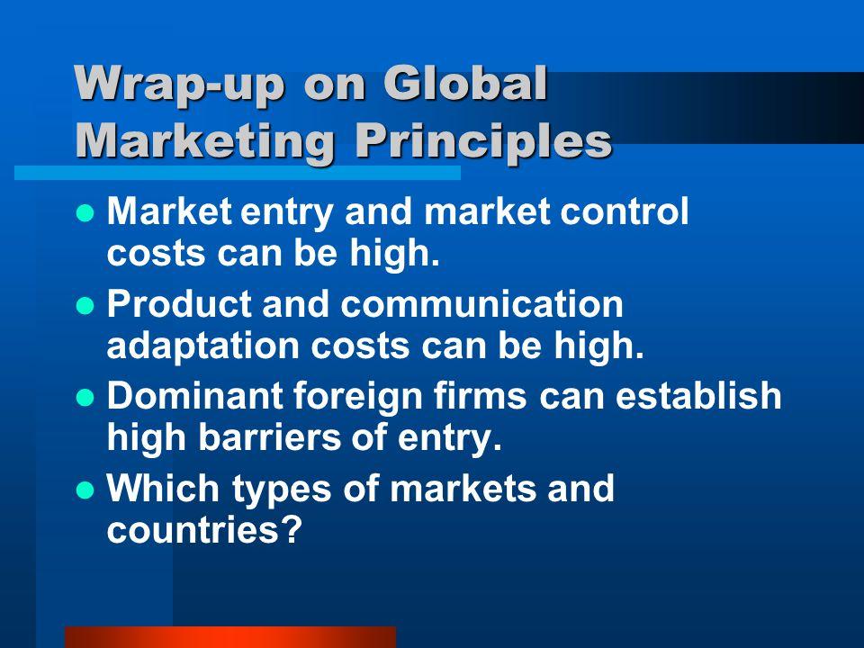 Wrap-up on Global Marketing Principles