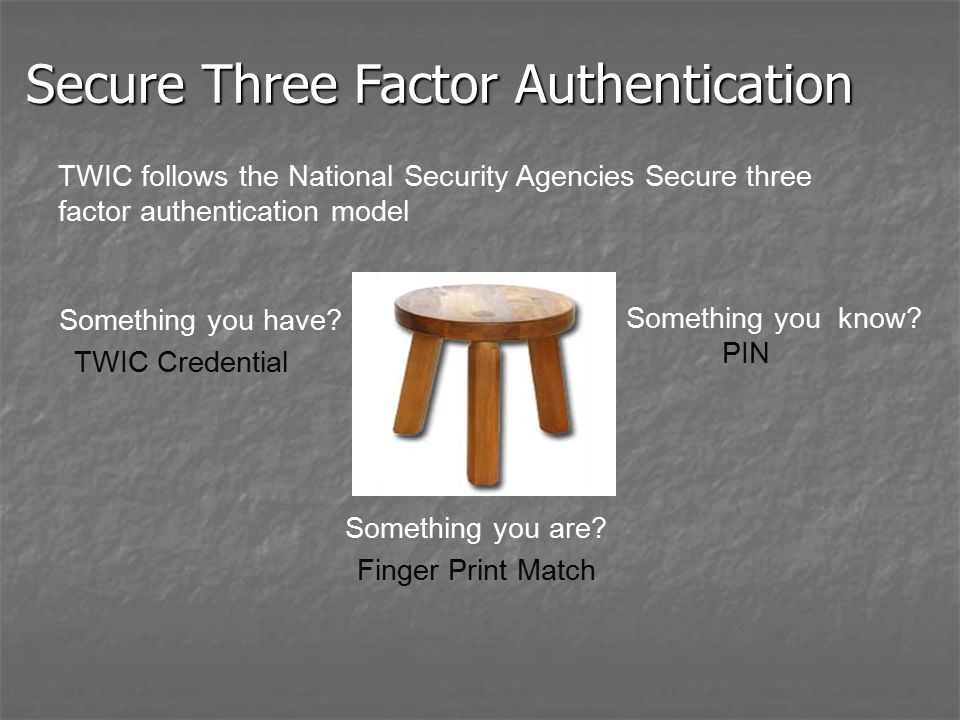 Secure Three Factor Authentication