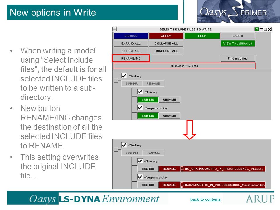 New options in Write