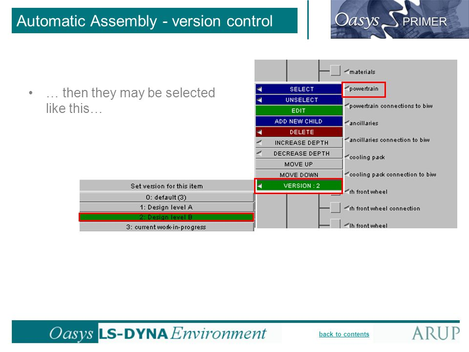 Automatic Assembly - version control