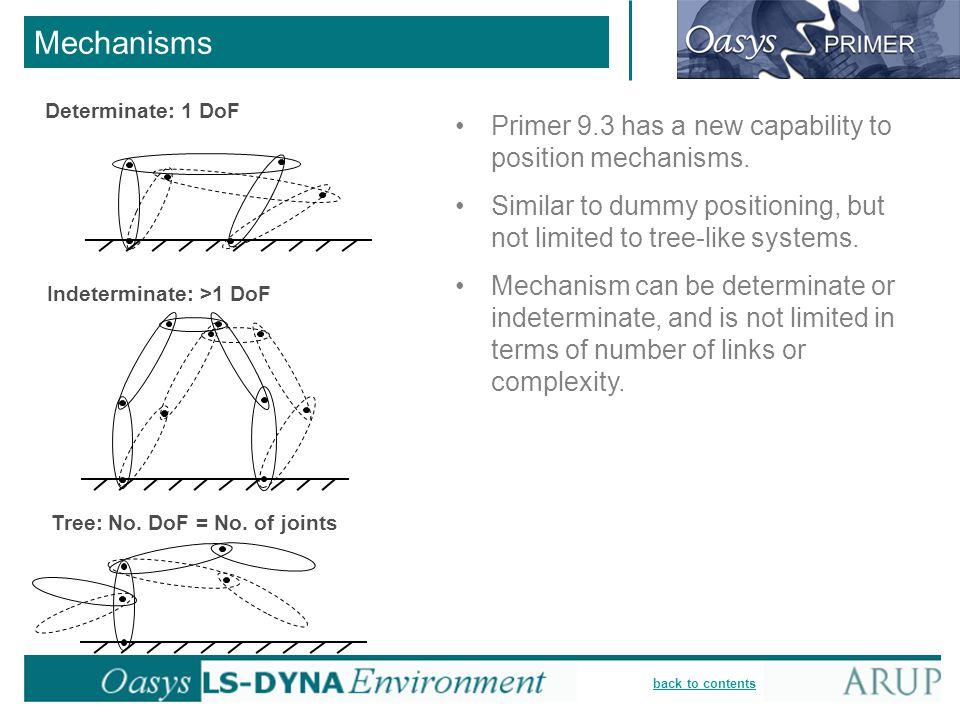 Mechanisms Primer 9.3 has a new capability to position mechanisms.