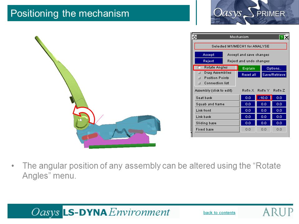 Positioning the mechanism