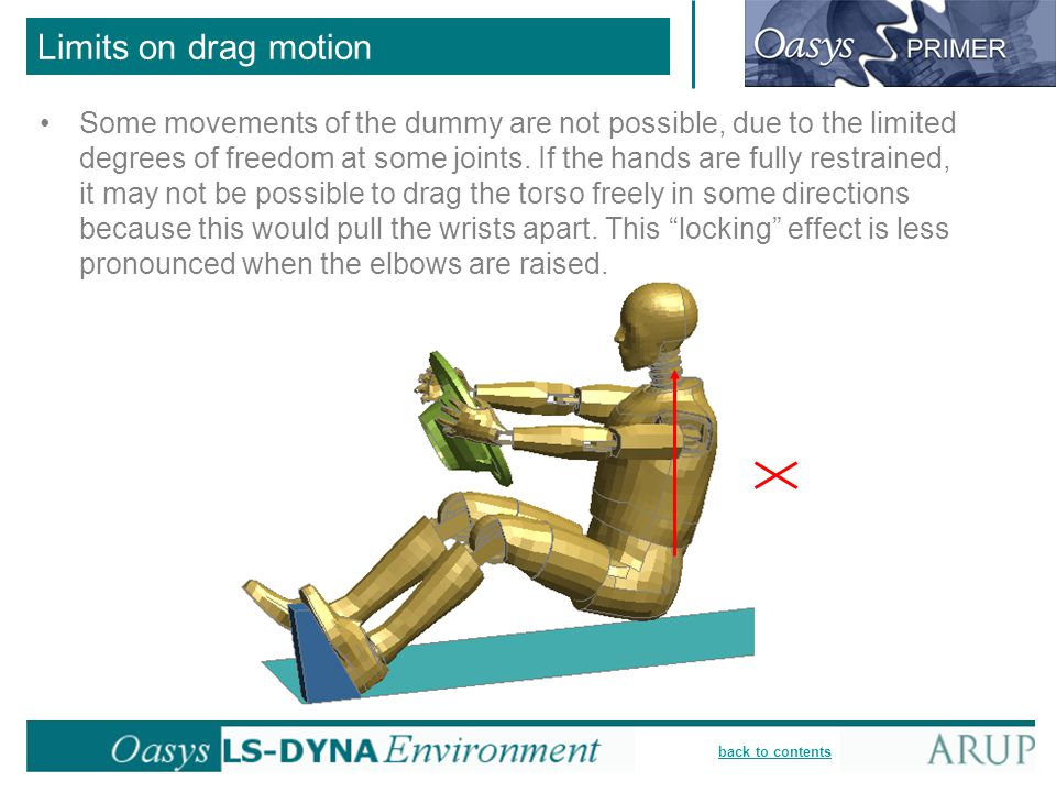 Limits on drag motion