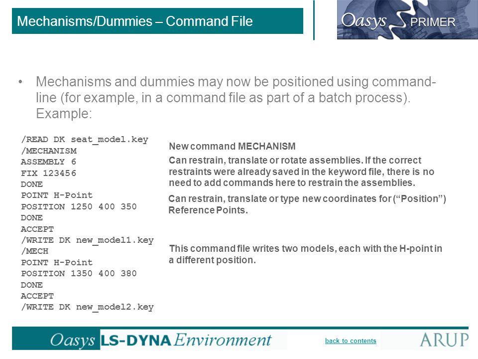 Mechanisms/Dummies – Command File