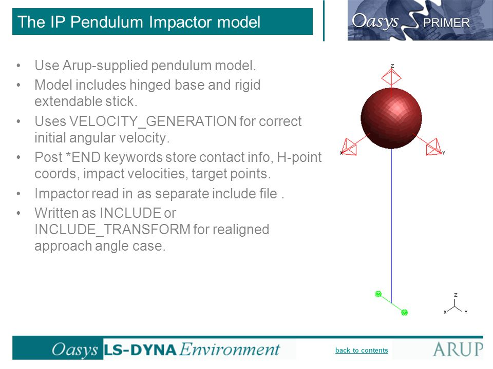 The IP Pendulum Impactor model