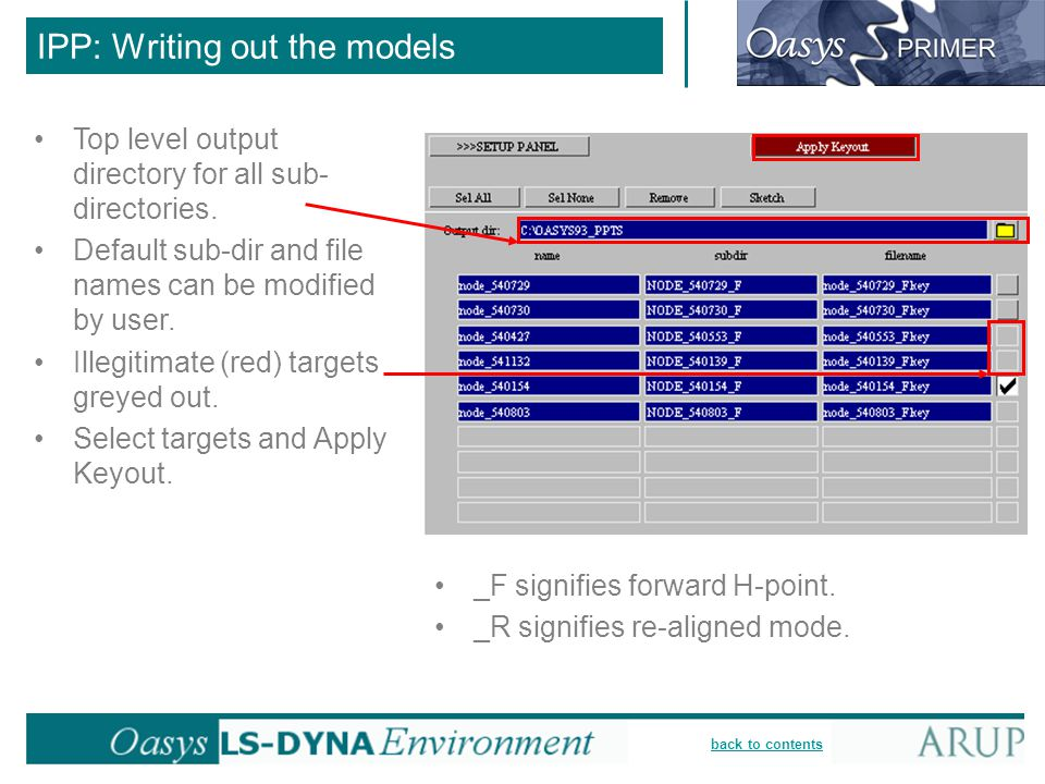 IPP: Writing out the models