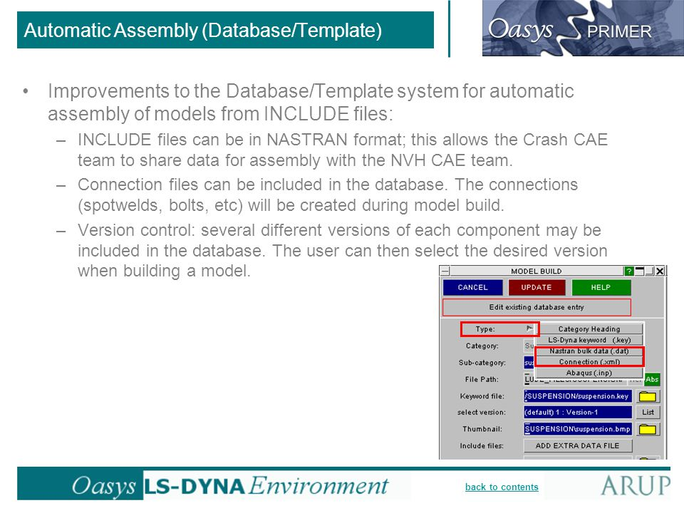 Automatic Assembly (Database/Template)