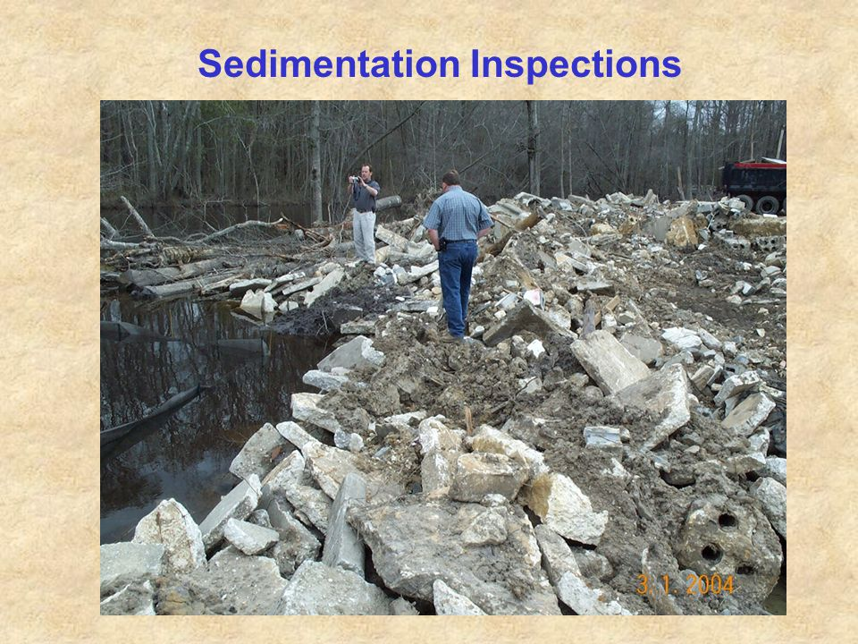 Sedimentation Inspections